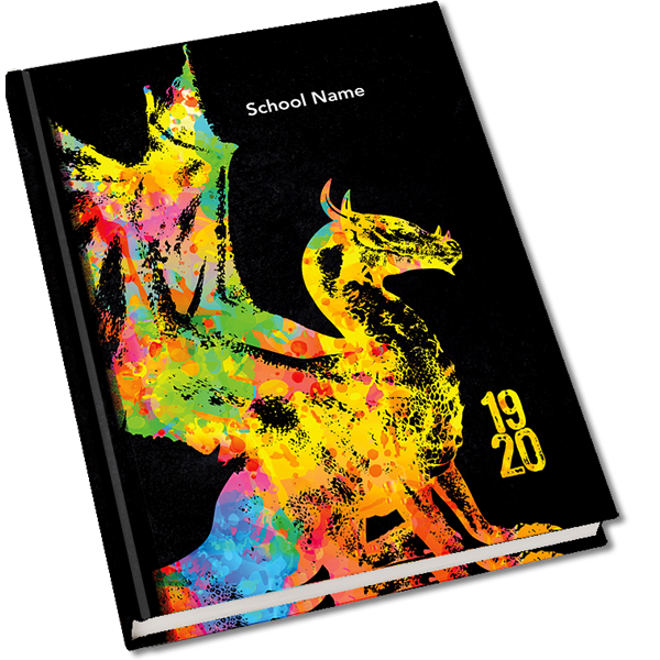 Dragon Mascot Yearbook Cover